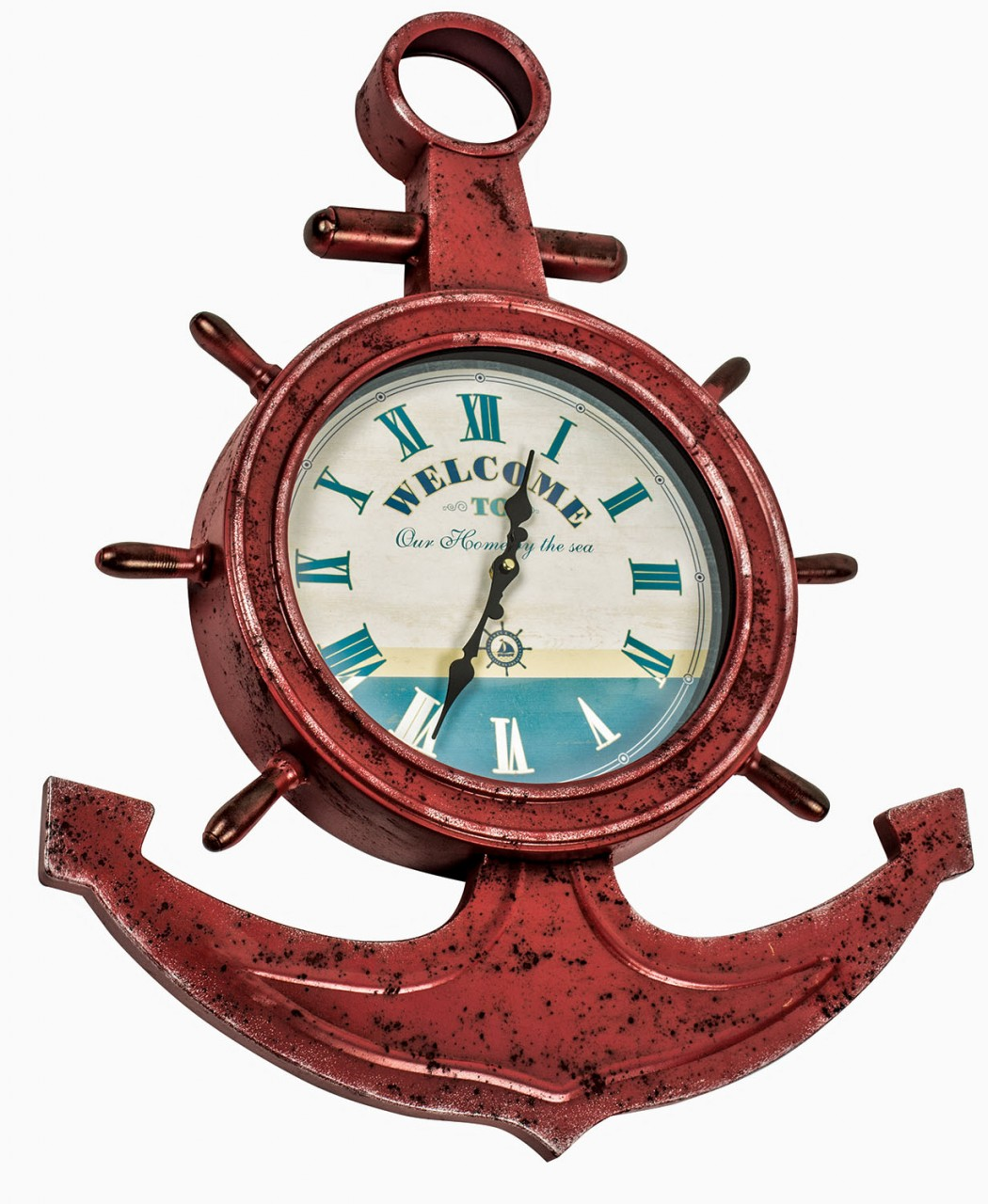 Nautical wall clocks uk vintage style wall clocks divine interiors and gifts amipublicfo Images