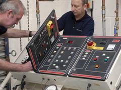 Testing on vacuum plant